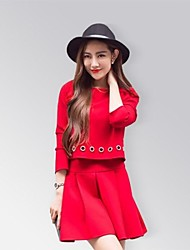 cheap -Women's Going out Dress Spring Cotton Black Red Pink / Shorts
