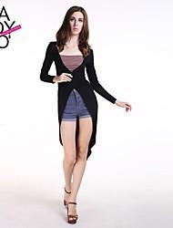 cheap -Women's Black T-shirt Long Sleeve