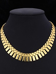 cheap -Women's Choker Necklace Collar Necklace Vintage Necklace Tassel Chunky Statement Ladies Tassel Dubai Platinum Plated Gold Plated Yellow Gold Golden Silver Silver 3pcs Jewelry Set Golden 3pcs Jewelry