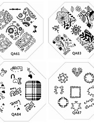 cheap -1PC New Nail Stamping Image Plates Chic Lace Flower Love Plate for DIY Nail Art Decorations(Assorted Pattern)