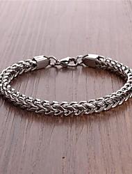 Недорогие -мужская мода простой титана стальной браслет