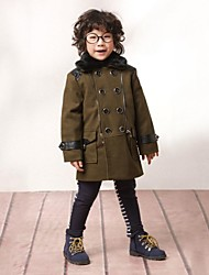 cheap -Solid Colored Long Sleeve Regular Regular Jacket & Coat Gray