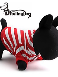 cheap -Cat Dog Hoodie Winter Dog Clothes Red Costume Cotton Stripes Christmas XS S L