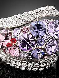 cheap -Women's Statement Ring Cubic Zirconia Amethyst Purple Green Cubic Zirconia Imitation Diamond Alloy Ladies Luxury Fashion Party Jewelry Pave