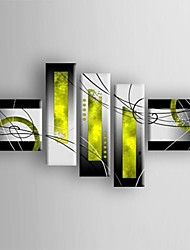 cheap -Hand Painted Oil Painting Modern Abstract Canvas with Stretched Framed Five Panels