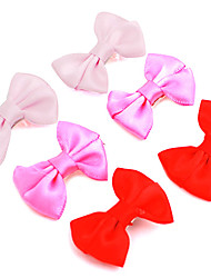 cheap -Cat Dog Hair Accessories Simple Style Dog Clothes Red Pink Rose Costume Terylene