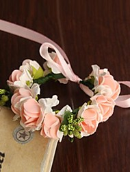 cheap -Wedding Flowers Round Roses Wrist Corsages Wedding Party/ Evening Satin Paper