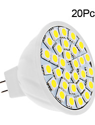 cheap -20pcs 2 W LED Spotlight 150-200 lm 30 LED Beads SMD 5050 Warm White Cold White 12 V