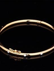 Недорогие -Синтетический алмаз Браслет цельное кольцо Дамы Винтаж Для вечеринки Для офиса На каждый день Стразы Браслет Ювелирные изделия Золотой / Серебряный Назначение / Искусственный бриллиант