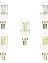cheap -5pcs 3 W LED Corn Lights 450 lm E14 24 LED Beads SMD 5730 Natural White 220-240 V / 5 pcs