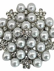 cheap -Rhinestone Crystal Wedding Bridal Bouquet Golden Flower Pearl Brooch
