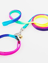 cheap -Dog Collar Leash Adjustable / Retractable Nylon Rainbow