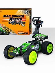 Недорогие -Гоночный багги LD Toys 1:22 Коллекторный электромотор RC автомобилей 15KM/H-18KM/H 4-канальн. FM Green,Red Готов к использованию