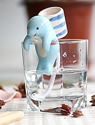 cheap -NEJE Self Watering Animal Plant Planters - Dolphin with Cup