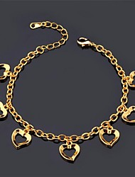 cheap -Chain Bracelet Love Ladies Vintage Party Work Casual Platinum Plated Bracelet Jewelry Gold / Silver For
