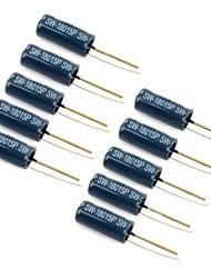Недорогие -SW-18015p вибрации датчик контактный пожимая выключатели - черные (10 шт)