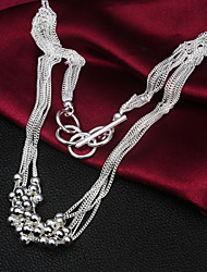 cheap -Statement Necklace Liquid Silver Necklace Statement Vintage Party Work Sterling Silver Silver Silver Necklace Jewelry 1pc For
