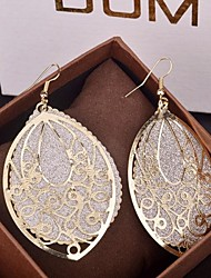 cheap -Women's Drop Earrings filigree Drop Statement Ladies Elegant Oversized fancy Earrings Jewelry Gold / Silver For Party Special Occasion Birthday Daily