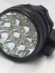 cheap -3 Headlamps Waterproof 8000LM LED 8 Emitters 3 Mode Waterproof Night Vision Camping / Hiking / Caving Everyday Use Cycling / Bike / Aluminum Alloy / US Plug