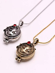 cheap -Women's Lockets Necklace Fashion Vampire Rhinestone Alloy Golden Silver Necklace Jewelry For Daily Casual