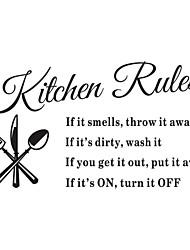 Недорогие -наклейки на стены наклейки на стены, правила кухни английские слова& котировки наклейки на стену пвх 1шт