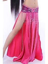 cheap -Belly Dance Skirt Women's Performance Elastic Silk-like Satin Natural