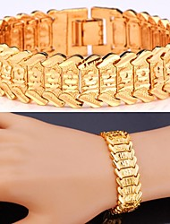 cheap -Women's Cubic Zirconia Chain Bracelet Ladies Zircon Bracelet Jewelry Golden / Gold-Heart / Silver-Heart For Wedding Party Daily Casual Sports / Platinum Plated / Gold Plated