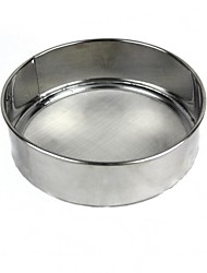cheap -Stainless Steel Flour Sieve Sugar Powder Sifter Baking Tools colanders Strainer Flour Mesh Pastry Tools