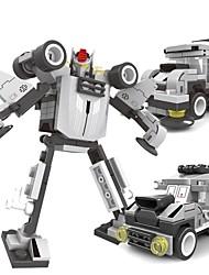 Недорогие -3 в 1 DIY строительные блоки игрушки развивающие кирпичи модель роботы трансформации разведчик для детей (91pcs)
