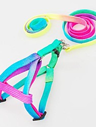 cheap -Dog Harness Leash Slip Lead Adjustable / Retractable Nylon Rainbow