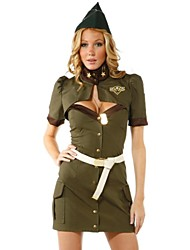 cheap -Women's Uniforms Stewardess Uniform Sex Cosplay Costume Hollow Shirt Dress Belt / Hat / Hat