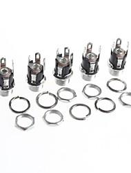 Недорогие -DC разъем питания постоянного тока Разъем розетка 5.5-2.1mm металл DC-053 (5шт)