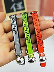 cheap -Cat Dog Collar Reflective Adjustable / Retractable PU Leather Yellow Orange