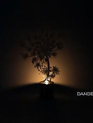 Недорогие -одуванчик теневая проекция ночник Креативный светодиодный ночник