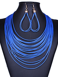 cheap -Women's Fashion Multilayer  Tassel Jewelry Set(Including Necklaces Earrings)
