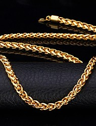 cheap -Women's Chains Necklace Chunky Foxtail chain Dookie Chain Ladies Party Work Casual 18K Gold Plated Alloy Necklace Jewelry For Special Occasion Birthday Gift