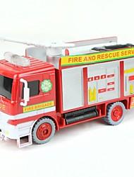Недорогие -электрическая пожарная машина пожарный пузырь игрушечных автомобилей - белый + красный (3 х АА)