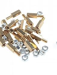 Недорогие -Латунные резьбовые Дистанционный болт с шестигранной головкой столбы с орехами (м3 х 10 мм + 6/20 шт)