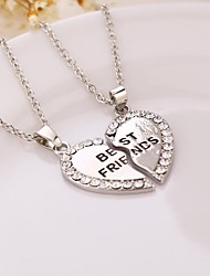 cheap -Women's Pendant Necklace Broken Heart Friends Heart life Tree Best Friends Friendship Ladies Initial Sister Alloy Silver Golden Necklace Jewelry 2pcs For Birthday Gift Daily Casual Sports