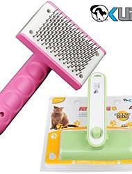 Недорогие -нейлон высокого качества и пластика массаж и чистка расческа для домашних собак (различных размеров и случайный цвет)