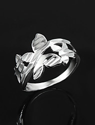 cheap -Statement Ring 1pc Silver Screen Color Sterling Silver Statement Vintage Party Jewelry Cute