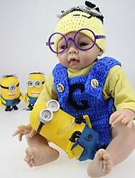 abordables -Poupées Reborn Bébé 22 pouce Silicone Vinyle - Nouveau née réaliste Fait à la Main Non Toxique Pour enfants Fille Jouet Cadeau