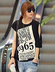 cheap -Women's T-shirt Black One-Size / Spring / Summer