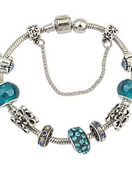 cheap -Women's Charm Bracelet Ladies Unique Design European Fashion Rhinestone Bracelet Jewelry Silver-Blue For Christmas Gifts