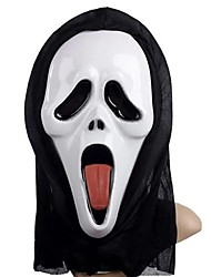 cheap -Sticking Tongue Ghost Mask with Head Cover Scream Practical Joke Scary Cosplay Gadgets for Halloween Costume Party