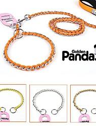 cheap -Dog Collar Leash Adjustable / Retractable Stainless Steel Yellow Orange