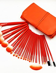 cheap -24pcs High Quality Professional Bright Orange Makeup Brush Set