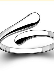 cheap -Band Ring Silver Sterling Silver Love Basic Open / Women's / Statement Ring