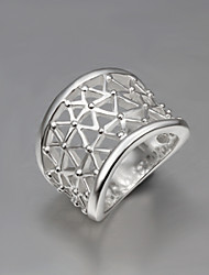cheap -Women's Statement Ring thumb ring Silver Sterling Silver Statement Fashion Party Jewelry filigree