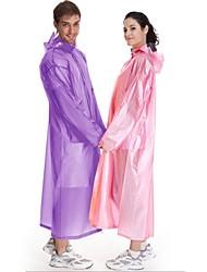 cheap -Men's Women's Unisex Hiking Raincoat Poncho with Hoods Outdoor Waterproof Rainproof Portable Windproof Ultra Light (UL) Raincoat Poncho Camping Hiking Hunting Fishing White Purple Yellow M L Stretchy